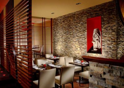 Natural Stone Used in a Modern Restaurant