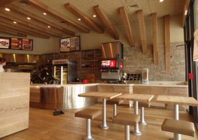 Comercial Restaurant Space with Natural Stone and Timbers